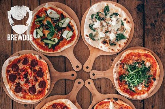 BrewDog pizzas & wine or beers