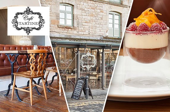 Award-winning Café Tartine dining & Prosecco