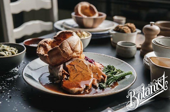 The Botanist Sunday roast and wine