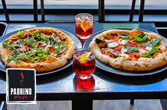 Handmade artisan pizzas and drinks at Padrino Pizza, Perth Road