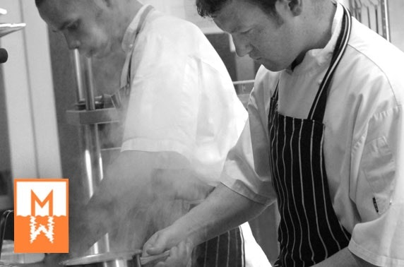 Cooking demo at the Cook School & Dining Room by Martin Wishart