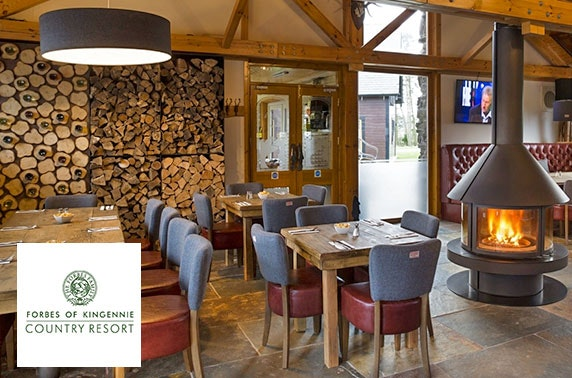 4* Forbes of Kingennie lodge getaway - from £11pppn