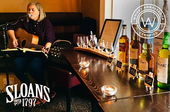 Sloans whisky tasting with canapés