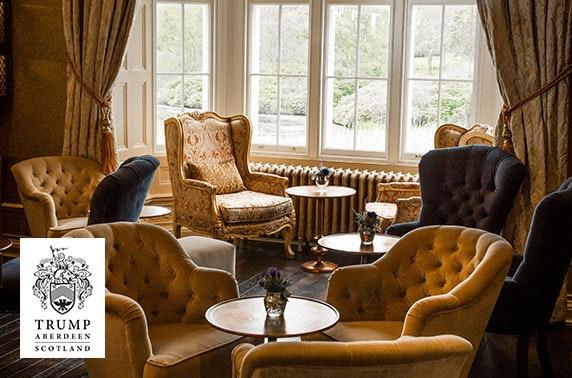 5* MacLeod House & Lodge Hotel luxury overnight stay, Aberdeenshire