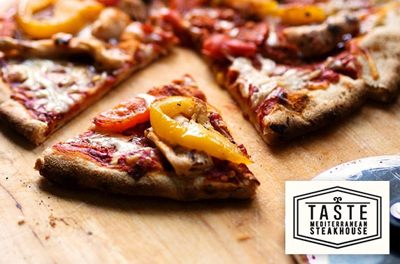 Pizza, pasta or burgers & drinks at Taste, Edinburgh