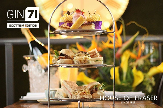 Afternoon tea at Gin71 Scottish Edition, House of Fraser