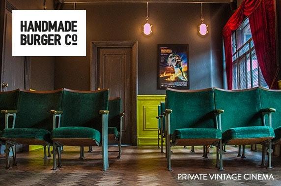 Private vintage cinema hire at Handmade Burger Co., City Centre