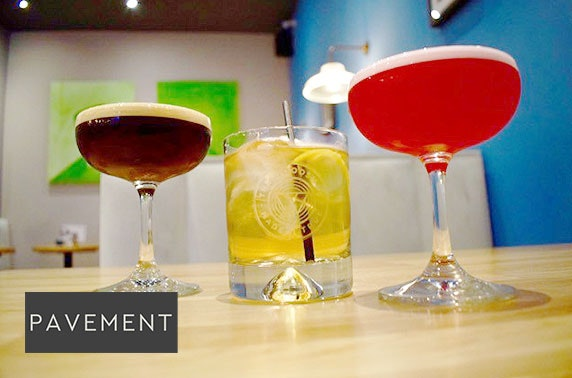 Cocktails & nibbles at newly-opened Pavement, Merchant City