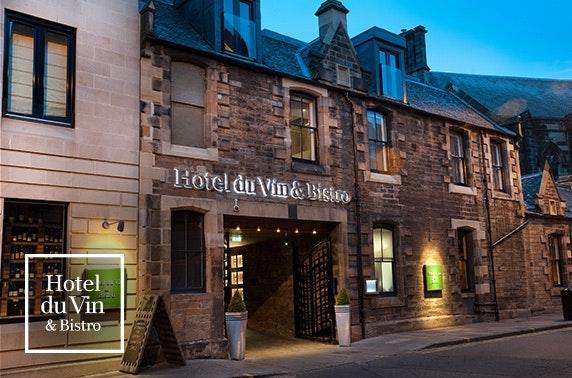 AA-Rosette dining & Prosecco, 4* Hotel du Vin Edinburgh