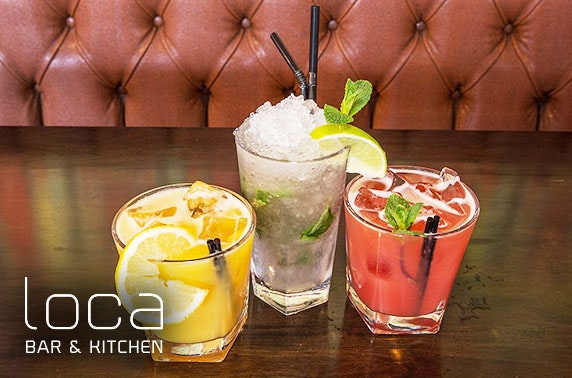 Private dining with cocktails on arrival at Loca Bar & Kitchen, Whitley Bay
