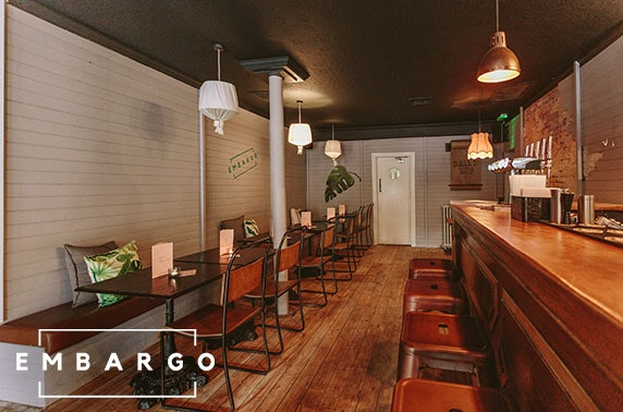 Brand new Embargo dining, Byres Road - valid 7 days
