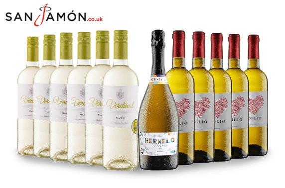 12 bottles of white wine & Prosecco DOC