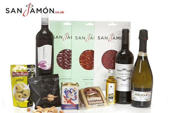 Prosecco, wine and Spanish delicacies