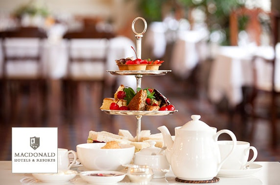 Prosecco afternoon tea, 4* Macdonald Inchyra Hotel & Spa