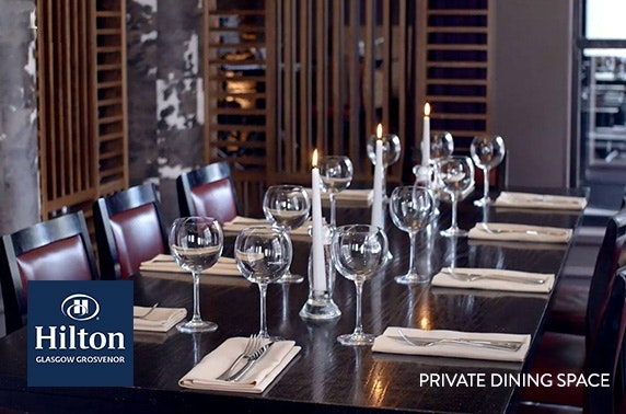 4* Hilton Glasgow Grosvenor private dining
