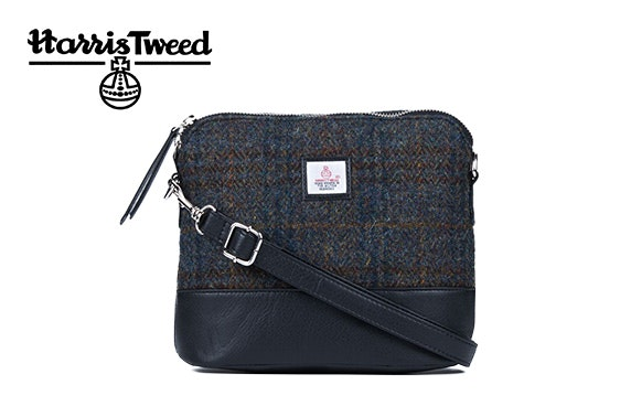 Harris Tweed square shoulder bag