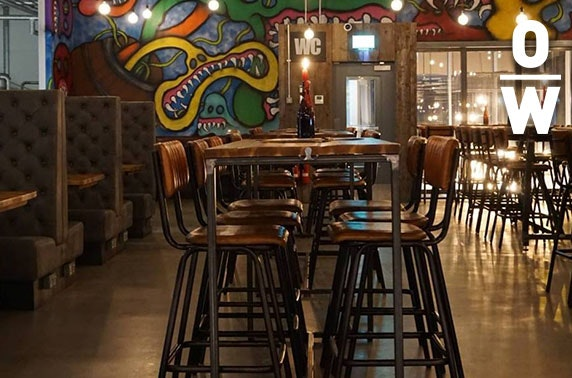 BrewDog Overworks sour beer flights & cheeseboard