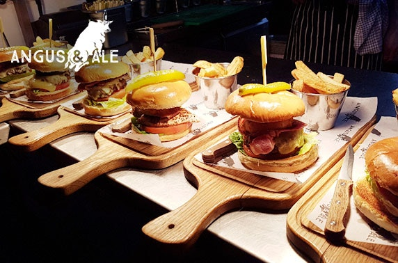 Burgers and drinks at Angus & Ale, City Centre