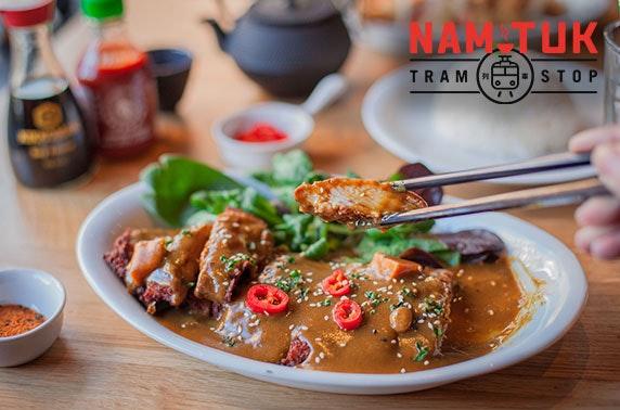 Nam Tuk Tram Stop dining, nr Byres Road