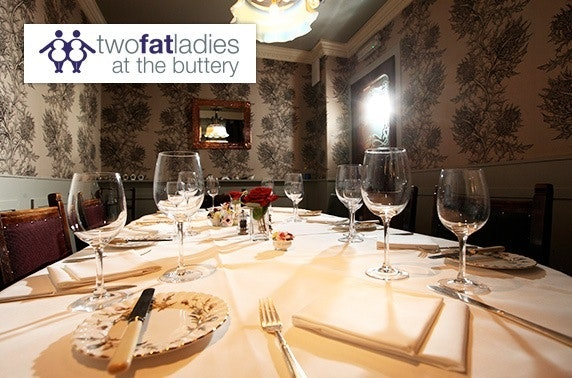 Luxury private dining, Two Fat Ladies at the Buttery