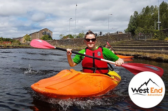 Kayaking session, Glasgow's West End