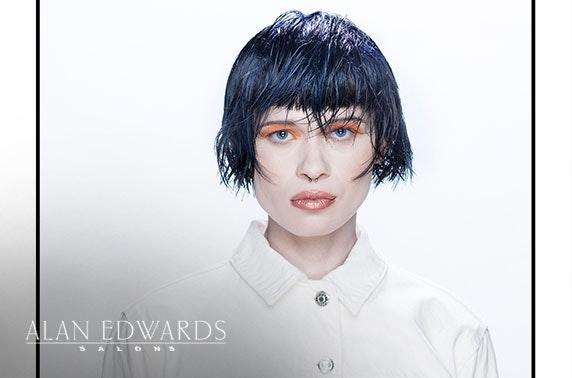 Award-winning Alan Edwards cut, blow dry & colour