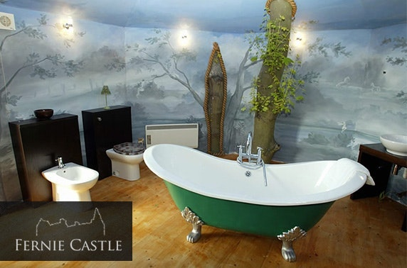 Stunning luxury treehouse stay, Fernie Castle