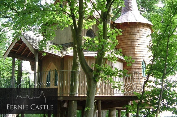 Luxury treehouse stay, Fernie Castle