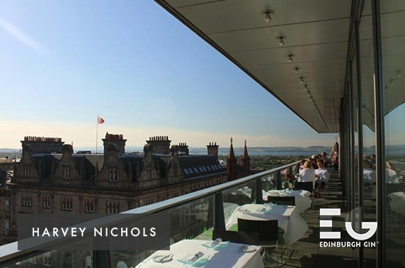 Harvey Nichols luxury Edinburgh Gin afternoon tea