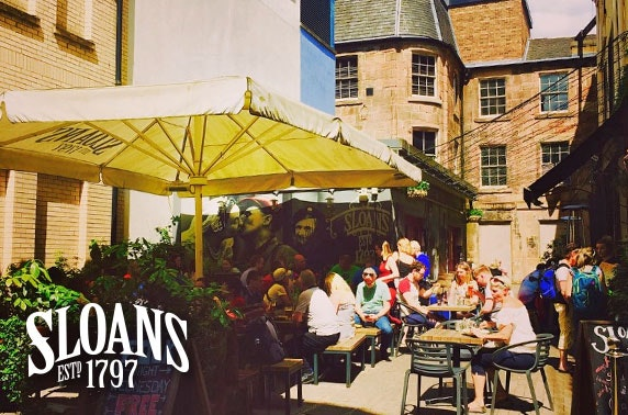 Sloans BBQ & drinks - £8pp