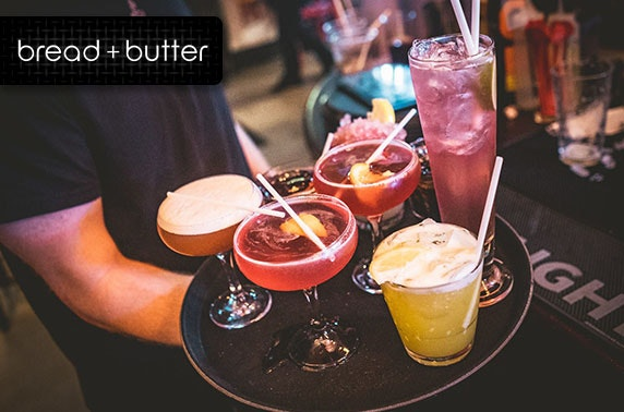 Cocktails and nibbles at Bread + Butter