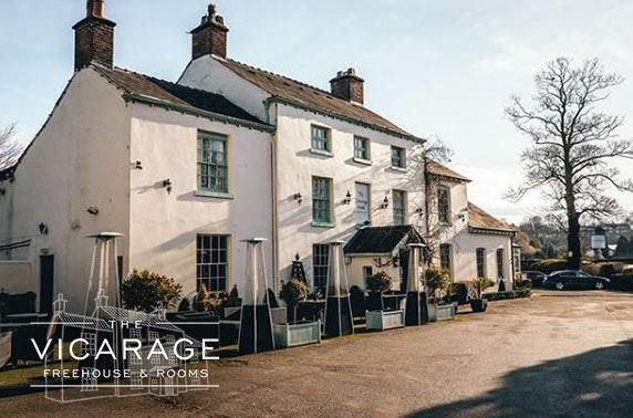 The Vicarage Sunday roast & wine, Cheshire