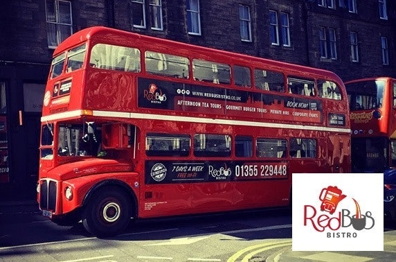 Red Bus Bistro Prosecco afternoon tea & tour
