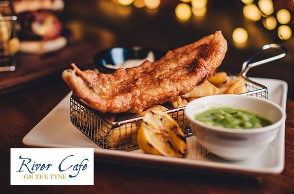 Fish & chips at Michelin-awarded River Café on the Tyne, Fish Quay