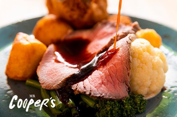 Sunday roast at 2 AA Rosette Mr Cooper's