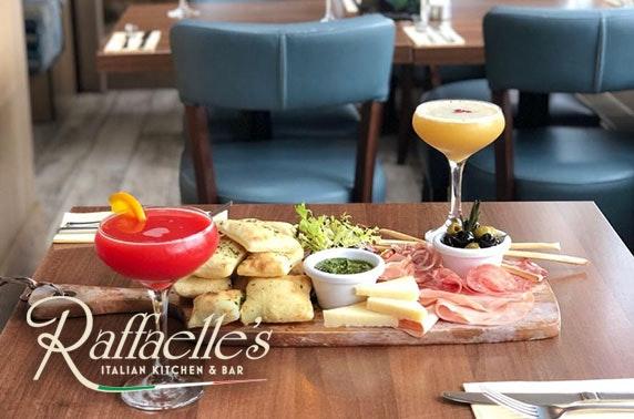 Cocktails & antipasti boards at Raffaelle's, Bearsden