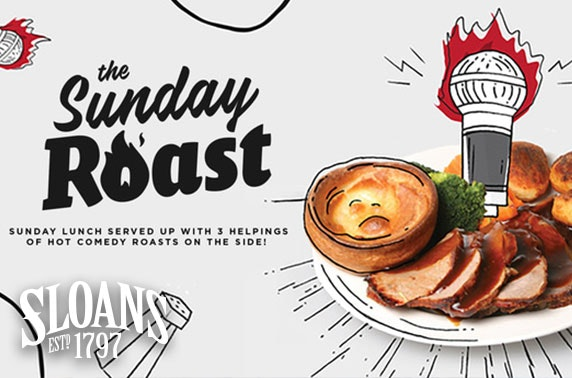 Sunday Roast Comedy with lunch at Sloans