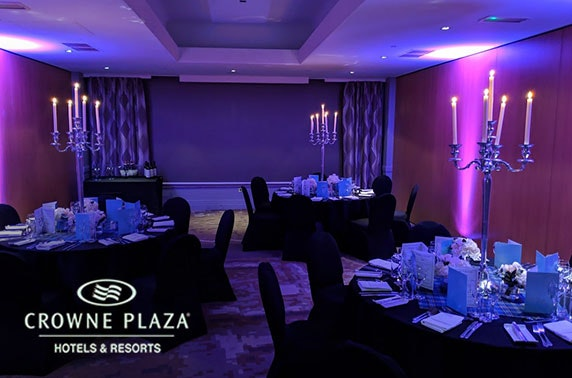 Private dining & Prosecco, 4* Crowne Plaza Glasgow