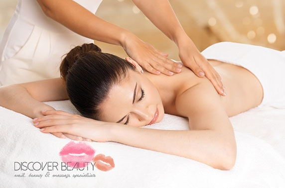 Full body massage or luxury facial, Discover Beauty