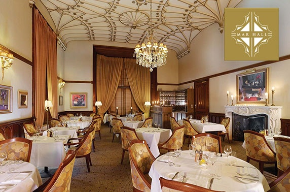 Champagne dining experience at 5* Mar Hall