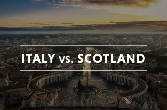 Scotland vs Italy rugby & Rome stay
