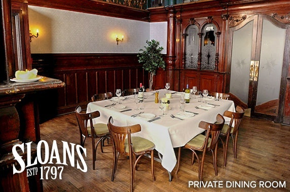 Private dining at Sloans, City Centre