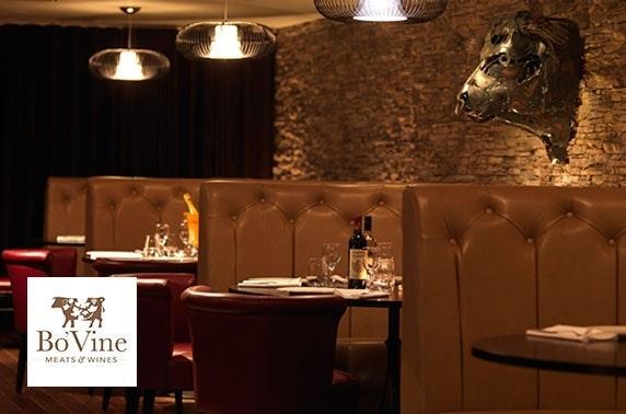 Bo'Vine steak & fizz, Byres Road