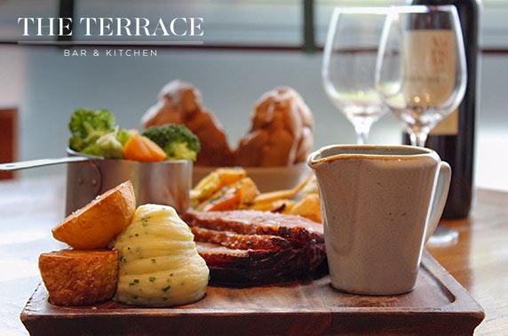 The Terrace Bar & Kitchen Sunday roast & wine