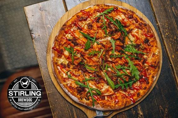 BrewDog Stirling pizzas & drinks