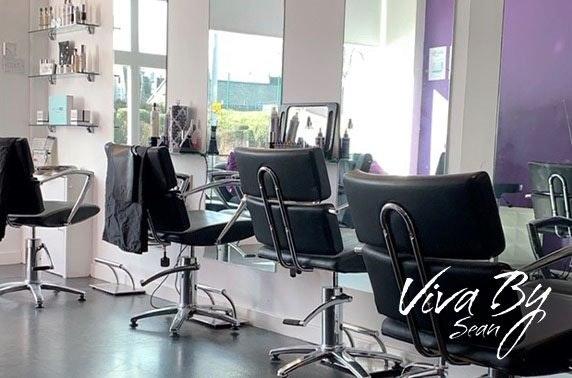 Cut, blow dry & optional highlights at award-winning Viva By Sean