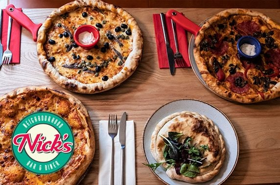 Nick's takeaway pizza or pasta