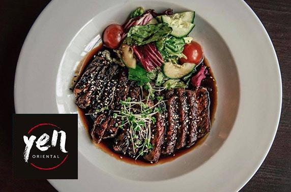Yen Oriental Restaurant dining