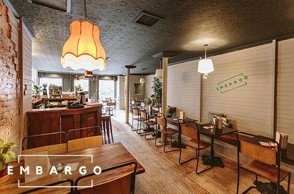 Embargo cocktail masterclass & food