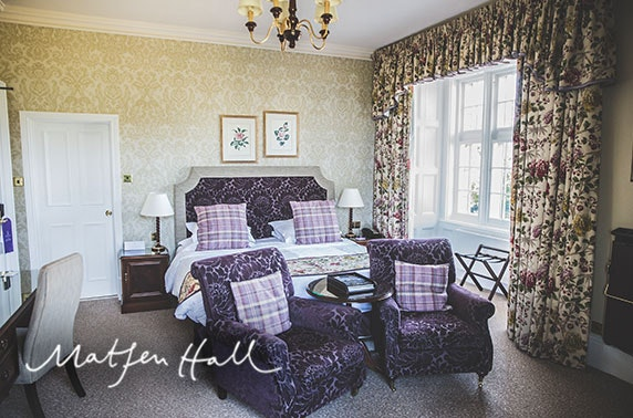 Matfen Hall stay, Northumberland